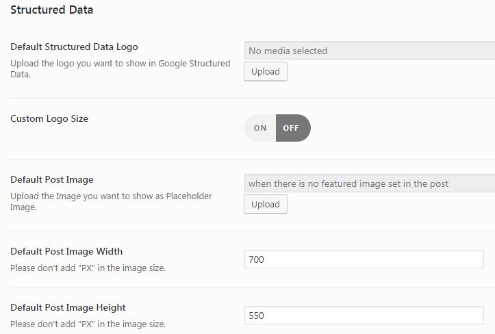 Страница Structured Data плагина AMP for WP