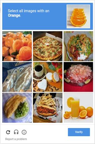 Пример использования reCAPTCHA