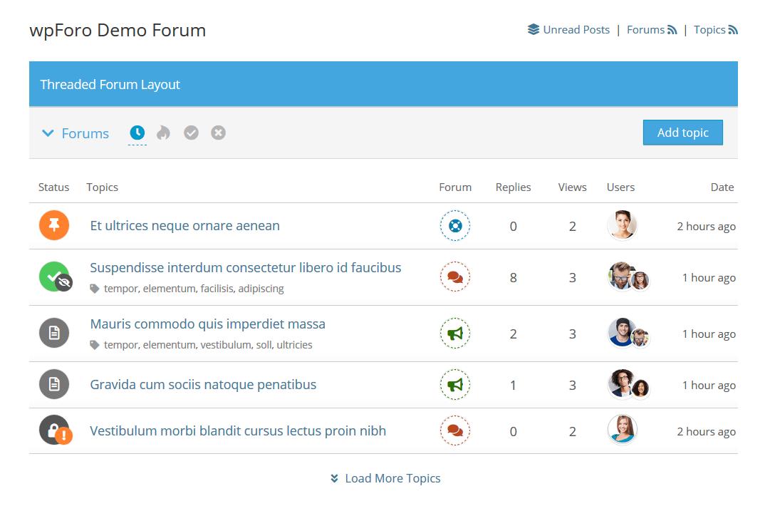 Форум на основе wpForo Forum