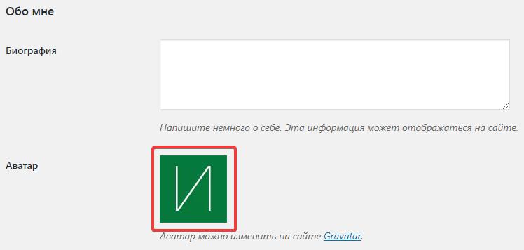 Измененная аватарка пользователя с помощью плагина WP First Letter Avatar