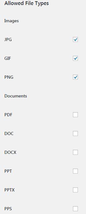 Форматы прикрепленных файлов