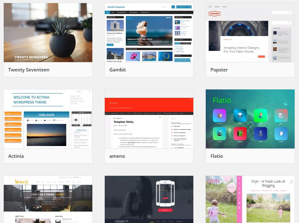 WordPress-каталог бесплатных тем