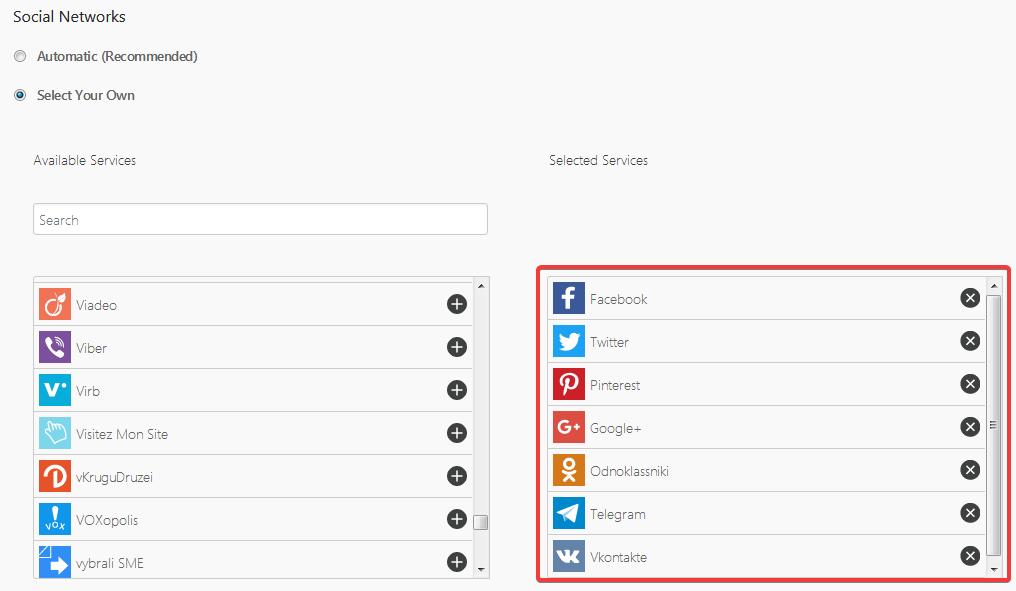 Настройка количества выводимых кнопок в плагине Share Buttons by AddThis