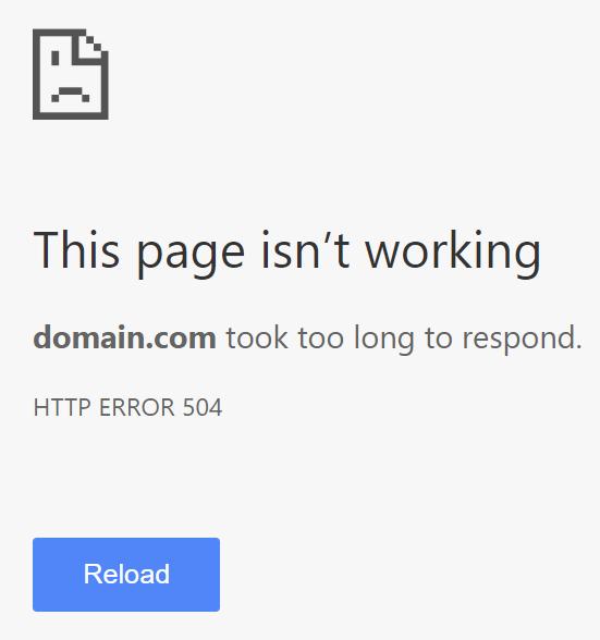 Ошибка 504 Gateway Timeout Error