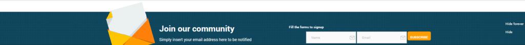 Футер сайта, добавленный плагином YITH Footer Banner