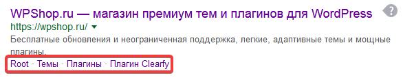 Страница поисковой выдачи в Google