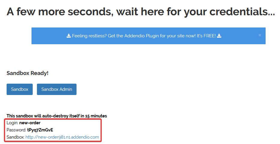 Запуск WordPress-песочницы на сайте https://addendio.com