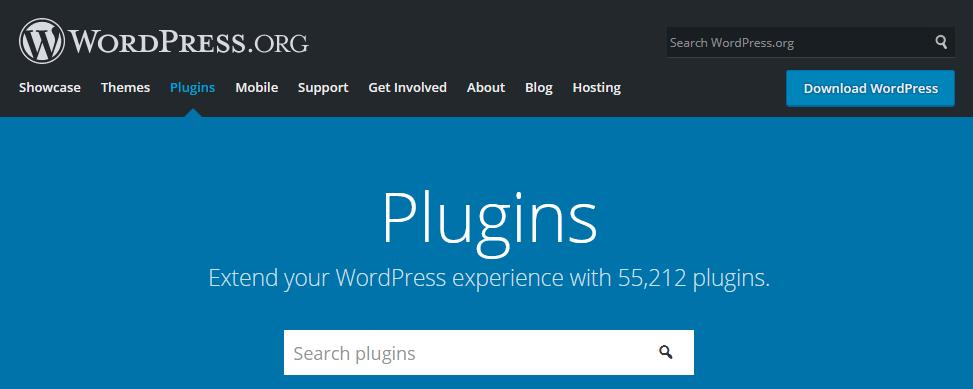 Страница официального каталога WordPress-плагинов