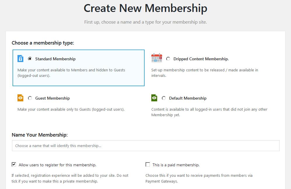 Страница настроек плагина Membership 2