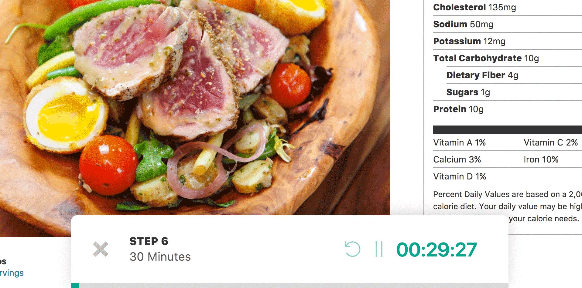 Страница рецепта блюда, созданного с помощью плагина Cooked
