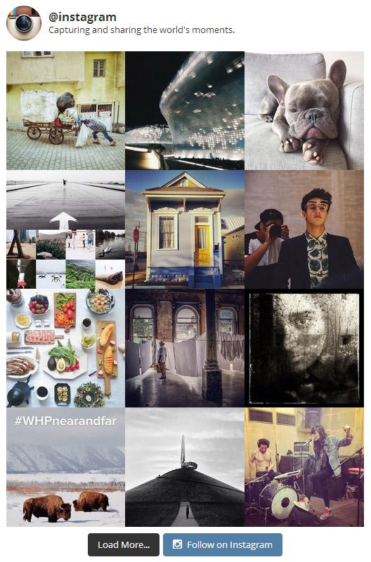 Работа плагина Instagram Feed