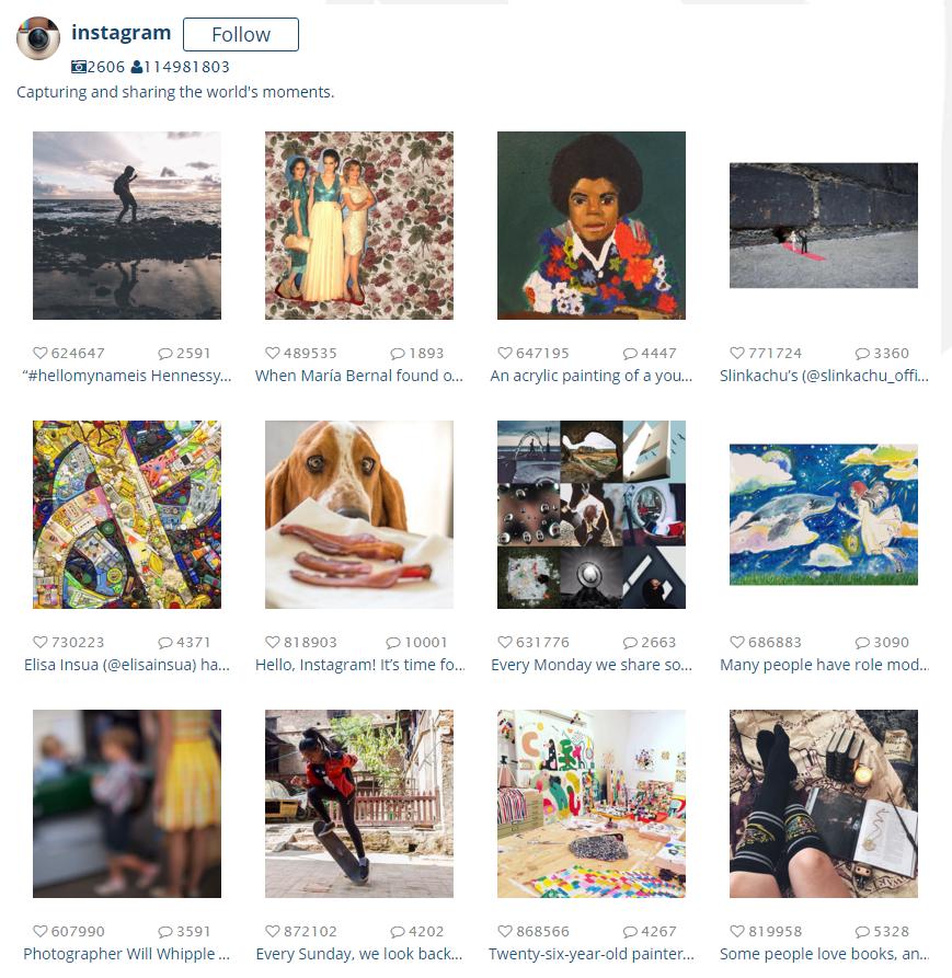 Работа плагина 10Web Instagram Feed