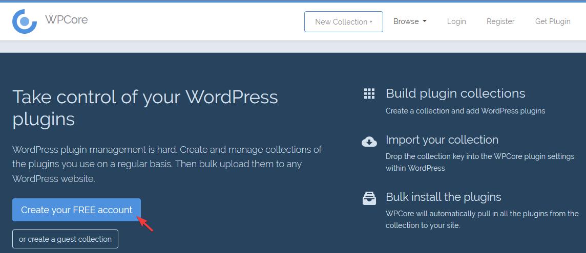 Главная страница wpcore.com