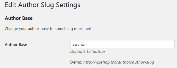 Изменение слага author в плагине Edit Author Slug