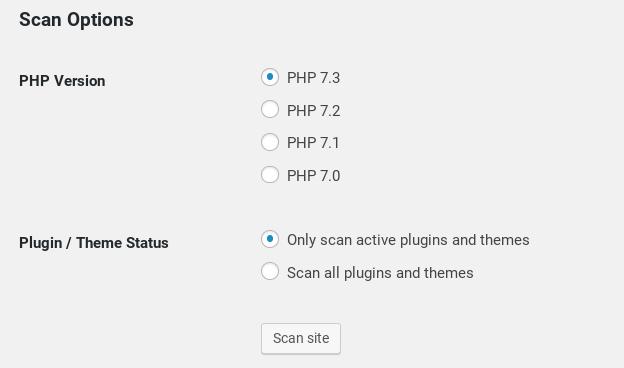 Настройка PHP Compatibility Checker