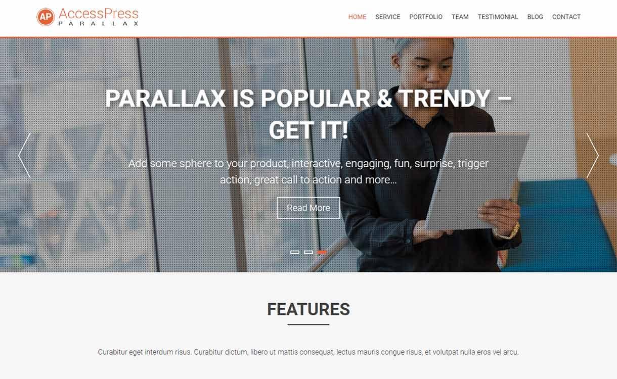 Тема AccessPress Parallax