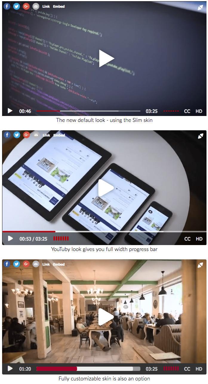 Вывод видео в FV Flowplayer Video Player