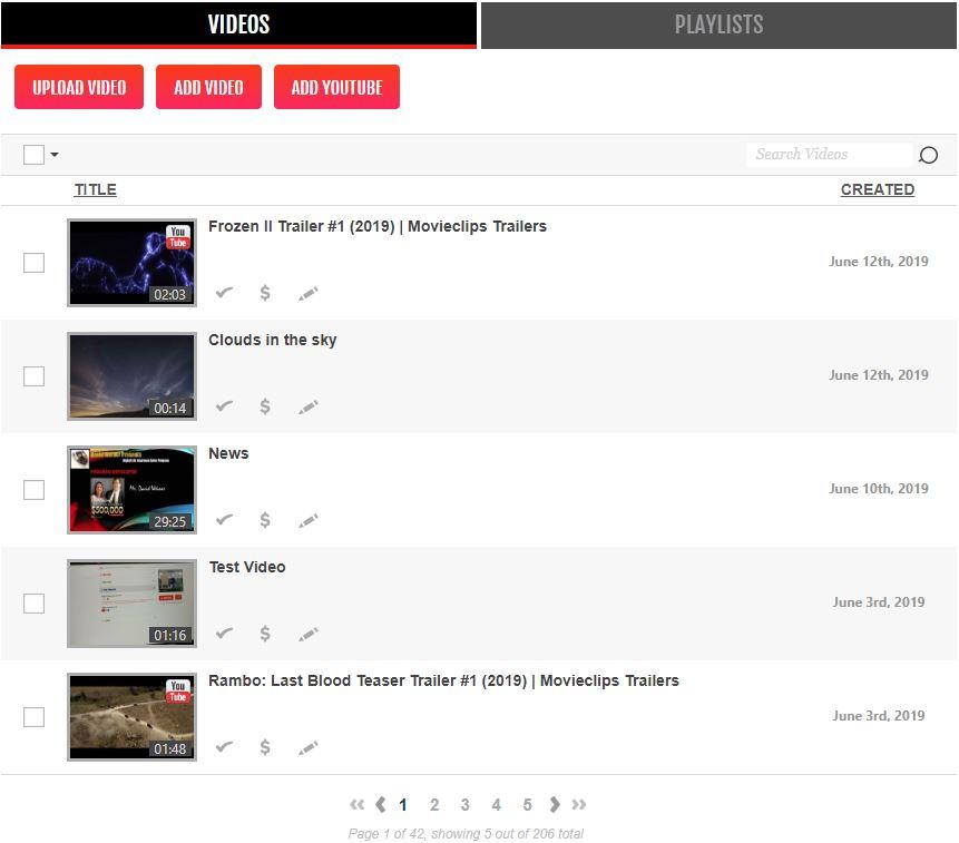 Вывод видео в Brid Video Easy Publish