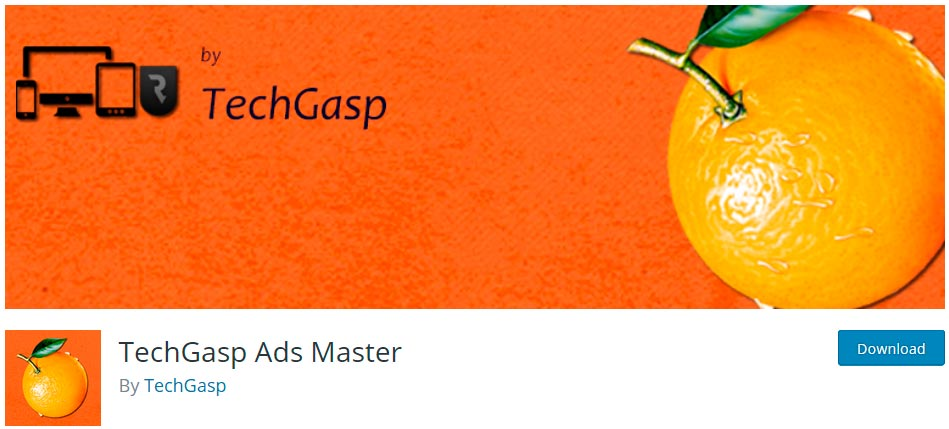 Оф. страница плагина TechGasp Ads Master