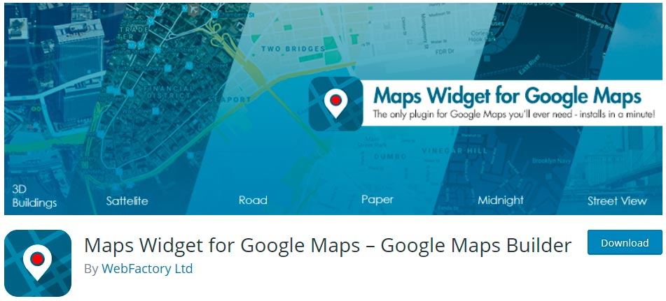 Оф. страница плагина Maps Widget for Google Maps