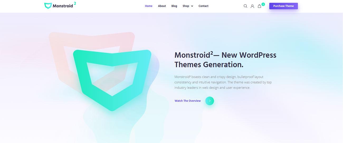 Демо-сайт с темой Monstroid2