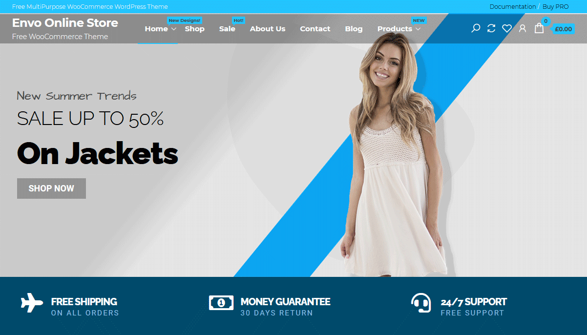Демо-сайт с темой Envo Online Store